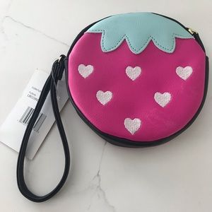 Betsey Johnson Strawberry Coin Purse